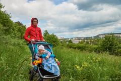 Stranska_Skala with a stroller