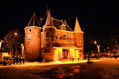 Amsterdam Waag at night