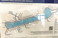 Balaton railway system around the lake