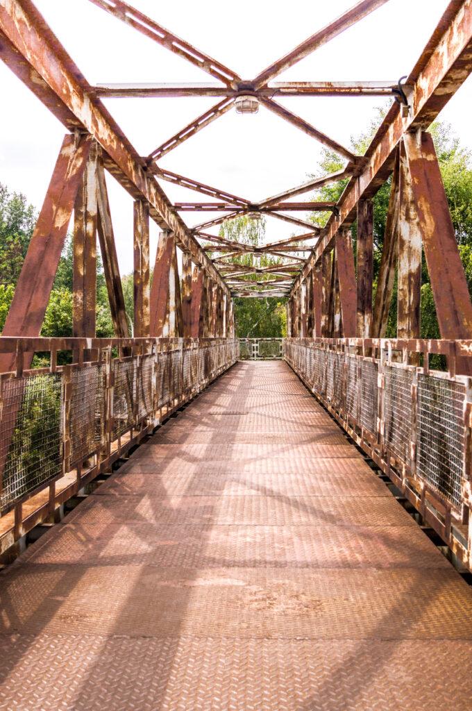 Iron bridge in Zastavka u Brna