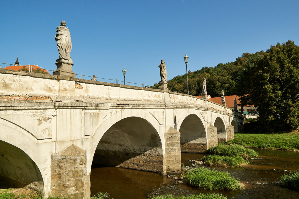 Baroque bridge over the Oslava river