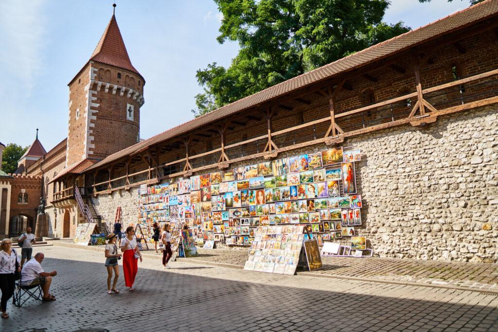 Florian Gate: open-air art gallery